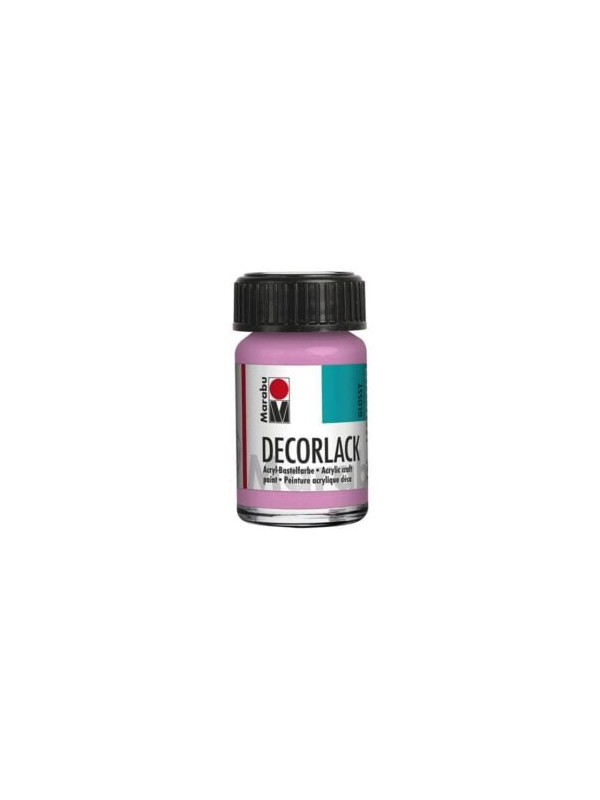 Decorlack Acryl, 15 ml, rožnata 033