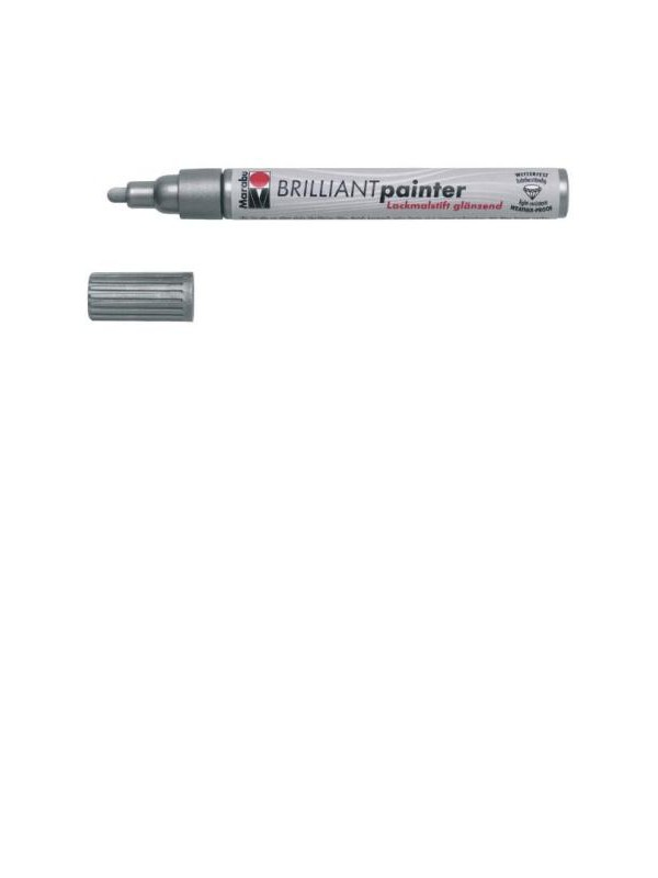 BRILLIANT PAINTER 2-4mm 082-srebrn